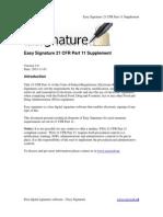 Easy Signature 21 CFR Part 11 Supplement