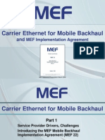 Carrier Ethernet for Mobile Back Haul 2009