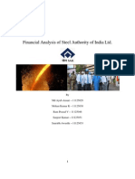 Financial Analysis of Steel Authority of India Ltd