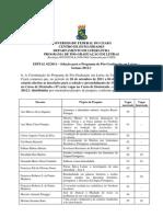 Edital Mestrado e Doutorado 2012-1