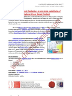 Propylene Glycol Coolant as a Non-Toxic Substitute of Ethylene Glycol Based Coolant