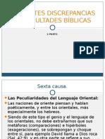 APARENTES DISCREPANCIAS Y DIFICULTADES BÍBLICAS, parte 2