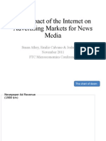 The Impact of the Internet on Advertising Markets for News Media
