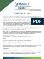 Finanzas al Día - 01.11.11