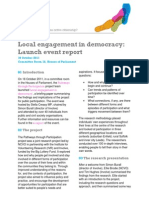 Local Engagement in Democracy Event Report