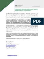 Gacetilla de Prensa Alianza Regional - SEGUNDO FORO DE AMÉRICA CENTRAL Y REPÚBLICA DOMINICANA POR LA TRANSPARENCIA (Costa Rica) (inglés)