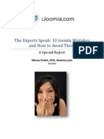 Top Joomla Mistakes