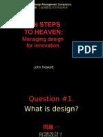 Managing Design for Innovation