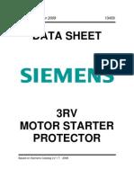 Siemens 3RV Motor Starter Protector