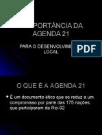 A IMPORTÂNCIA DA AGENDA 21