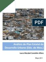 Análisis de Plan Estatal de Desarrollo Urbano