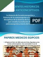 Antecedentes Historicos de Los Anticonceptivos