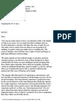 Aristotle Metaphysics Book 1, Parts 1 2