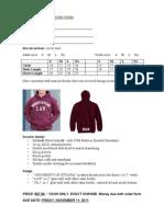 Law Hoodie Order Form