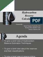 Hydrocarbon Reserve Estimation