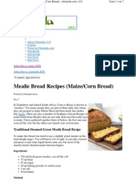 Mealie Bread Recipes Maize Corn Bread 2