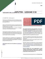 Guida al Computer - Lezione 3