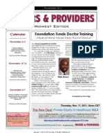 Payers & Providers Midwest Edition – Issue of November 1, 2011