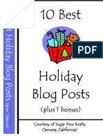 10 Best Holiday Blog Posts eBook