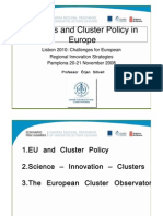 Clusters and Cluster Policy in Europe Orjan Solvell