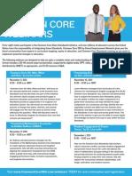 FREE Common Core Webinars - Common Core 360 Standards Training