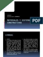 Materiales y Sistemas Constructivos Cimbras