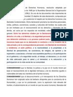 Declaración Universal de Derechos Humanos resumen