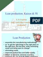 Lean Production, Kaizen & 5S