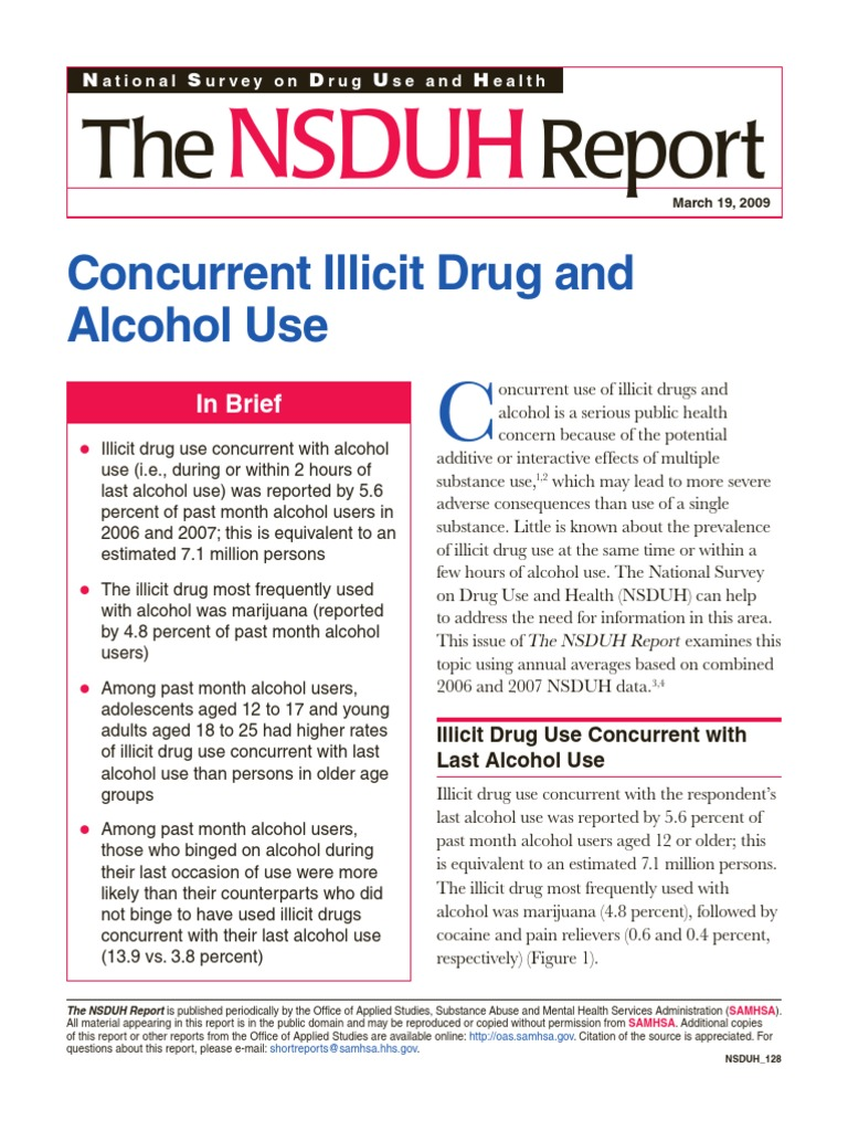 Concurrent Illicit Drug and Alcohol Use | Substance Abuse | Recreational Drug  Use