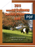 2011 US Belted Galloway Society Premium Sale Catalog