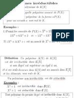 Polynômes(4) Irréductibles