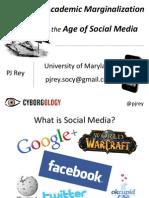 GMU Public Sociology Presentation - The Academy & Social Media