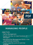 Managing People Lecture One