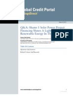 Standard & Poors on Shams 1 Solar Power Project