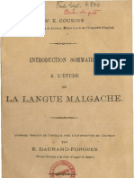 Cousins, William Edward. 1897. Introduction sommaire à l'étude de la langue malgache.
