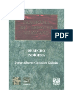 El Derecho Indigena - Jorge a Gonzalez Galvan