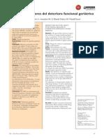 Factores Predict Ores Deterioro Funcional Geriatrico