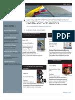 Boletín Novedades Bibliográficas CINU Noviembre