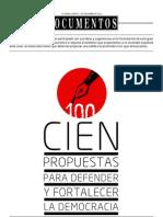 100 PROPUESTAS - IDEAS PARA UN TIEMPO MEJOR