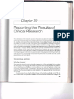 Reporting the Results of Clinical Research