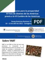 III Foro de Jovenes de Las Americas - Proceso de Participacion 2011 - 2012