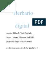 Herbario Digital Heber Tapia Q.
