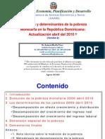 Evolucion Pobreza Monetaria Abril 2010