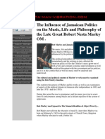 The Influence of Jamaican Politics on the Music