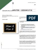 Guida al Computer - Lezione 27