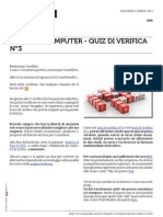 Guida al computer - Quiz di verifica n°3
