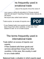 The Terms Frequently Used in International Trade
