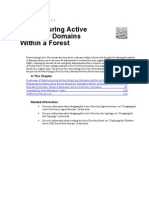 Restructuring Active Directory Domains Within a Forest