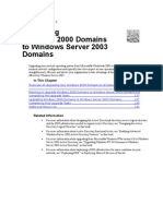 Upgrading Windows 2000 Domains to Windows Server 2003 Domain