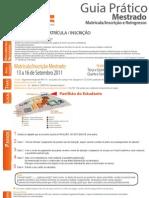 Inf Matricula Inscricao Mestrado 2011 2012